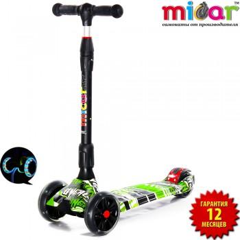 Складной трёхколёсный самокат Scooter Maxi Micar Ultra Comics со светящимися колёсами