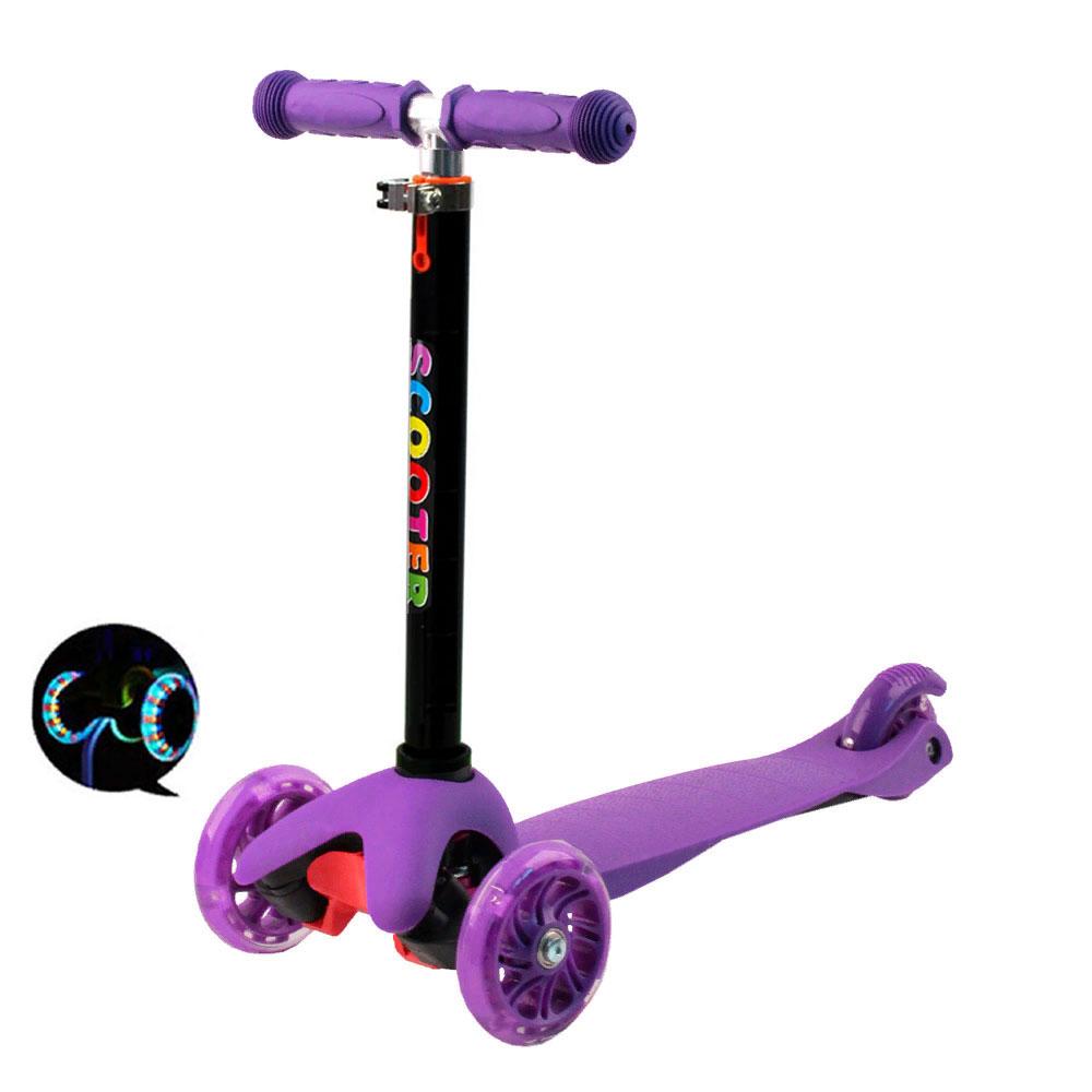 Детский трёхколёсный самокат Scooter Mini Фиолетовый